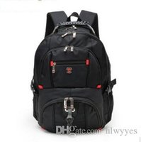 Wholesale swiss travelling bags resale online - Top quality Swiss Multifunctional laptop bag Backpack for inch laptop Schoolbag Travel Bags