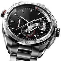mouvements de montre automatiques achat en gros de-2019 New Top Men mécanique en acier inoxydable 2813 automatique mouvement montre sport mens montres à remontage automatique tag montre-bracelet