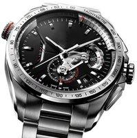 relogio relógios venda por atacado-2019 Novo Top Mecânico de Aço Inoxidável Dos Homens 2813 Movimento Automático Relógio de Esportes dos homens Auto-vento Relógios tag relógio de Pulso