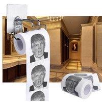papeles de envío gratis al por mayor-Regalos de Papel Higiénico Papel higiénico Trump Humor Aseo partido novedad creativa del rollo de papel DHL libre envía