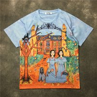 Wholesale t shirt online - New Flower Girl Couple T Shirt Hip Hop Mens Designer T Shirts Fashion Brand Mens Womens Short Sleeve S XL