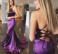 Wholesale 26w special occasion dresses resale online - Stylish Mermaid Prom Dresses Lace Up Sweep Train Sexy Formal Party Evening Gown Elegant Special Occasion Dress Cheap Vestidos De Fiesta