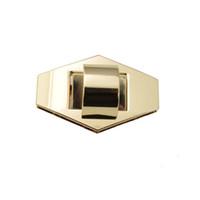 bourse fermoir or achat en gros de-20pcs 56 mm Big gold twist sac à main Sac de verrouillage en métal Fermoir Turn Lock Twist Locks Sac à main Matériel Accessoires