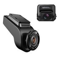 video dash car оптовых-2-дюймовый автомобильный видеорегистратор ночного видения тире Cam 4K 2160P фронтальная камера с 1080P камера заднего вида автомобиля рекордер видео поддержка GPS/WIFI камера автомобиля