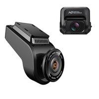 rückspiegel auto dvr gps großhandel-2 Zoll Auto DVR Nachtsicht Dash Cam 4K 2160P Frontkamera mit 1080P Rückfahrkamera Recorder Video Unterstützung GPS / WIFI Car Camera