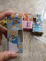 tanques de papel al por mayor-Carritos de cereales Paquete de empaque Cajas Bolsas Caja de papel Paquete de 7 sabores Para 1 gramo Negro Dank Vape G5 M6T Cartucho Tanque Mario Carretas exóticas