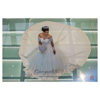Wholesale princess wedding dresses resale online - 2019 Princess D flowers ball gown wedding dresses court long train sheer scoop neck long sleeves african church formal bridal wedding gowns