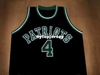 jersey des patriotes noirs achat en gros de-CHAUNCEY BILLUPS PATRIOTS HAUTE ÉCOLE JERSEY NOIR NOUVELLE TAILLE XS - 5XL Retro Maillots de Basketball NCAA College