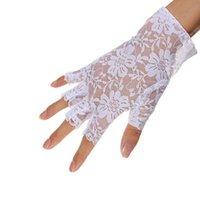 ingrosso donne mezza guanti pizzo-1 paio di guanti mezze dita sexy senza dita nuovi guanti mezze dita