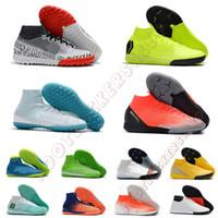 zapatillas de fútbol de interior blanco cr7 al por mayor-Mercurial Superfly 2019 Nuevos hombres Zapatos de fútbol Zapatos CR7 Elite IC TF Botas de fútbol para interiores Zapatillas Negro Blanco Rojo Zapatillas Tamaño 39-45