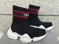 zapatos ss al por mayor-2019 Niños VETEMENTOS PERROS SS UNISES Calcetines Entrenadores Zapatos para correr de descenso CN3307 Calzado casual Calcetines de hombre Estiramiento Tejer Botas casual al aire libre