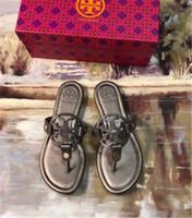 sandalias de verano de las mujeres de calidad al por mayor-Diseñador de alta calidad de los hombres de las mujeres sandalias zapatos de diseño de lujo de diapositivas de moda de verano ancha plana resbaladiza con sandalias gruesas zapatillas Flip Flop