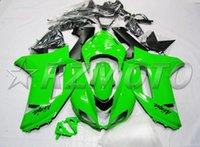 kit carenado kawasaki zx6r verde al por mayor-Nuevo kit de accesorios de carenado de motos para kawasaki ninja zx6r 636 2007 2008 07 08 6R 600CC carrocería verde