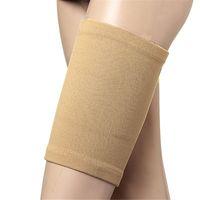 peles de perna venda por atacado-1 par Esporte Respirável Coxa Manga Compressão Isquiotibiais Apoio Manga Perna Suporte Cinta Coxa Protetor Da Pele