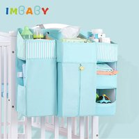 Wholesale crib diaper for sale - Group buy IMBABY Portable Baby Crib Organizer Bed Hanging Bag for Baby Essentials Diaper Storage Cradle Bag Bedding Set Supplies