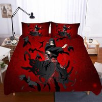 Wholesale sabanas 3d resale online - NARUTO Home Textiles Bed Linen Ropa De Cama Gift Twin Sabanas d King Size Bedding Set Bed Linen Euro Poplin