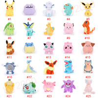 Wholesale game hooks for sale - Group buy Pikachu Doll Yoy bulbasaur piplup charmander eevee mew squirtle plush toys stuffed pendant toy with hook pikachu Stuffed Animals kids toys