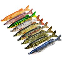 Wholesale segment fishing hard lures resale online - Big Lifelike Multi jointed segment Pike Baits quot cm g Fishing Lure Colors Swimbait Hard Bait