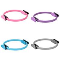círculos de pilates al por mayor-Yoga Magic Circle Durable PP Anillo de pilates de doble agarre para ejercicios musculares