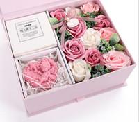 çince çiçek bitkisi toptan satış-Çin sevgililer Günü Hediye Sabun Çiçek Hediye Kutusu Yenilik Hediye Gül Yaratıcı Sabun Doğal Bitki El Yapımı Sabun