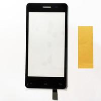 fliegen touchscreen großhandel-4,5-Zoll-Touchscreen für Fly IQ4403 IQ 4403 Energie 3 Touchscreen Sensor Digitizer Touch Panel Schwarz