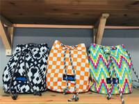 un bolso de la correa de las mujeres al por mayor-Bolso de un hombro para mujer Diseñador de moda KA 7 colores Bolsos con cordón Bolso de correa de lona Bolsos de viaje de playa Bolsos de compras con estampado B80801