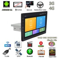 Wholesale car gps for sale - 9 quot P Universal DIN Adjustable Android Touch Screen Quad core RAM GB ROM GB Car Stereo Radio GPS Wifi G G