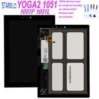 digitalizador de toque do tablet lenovo venda por atacado-10.1 polegada para lenovo yoga tablet 2 1051 1051l 1051l digitador da tela de toque de vidro display lcd assembléia peças de reposição + ferramentas