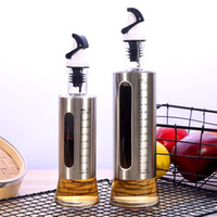 Wholesale vinegar jars resale online - Kitchen Supplies Seasoning Bottle Stainless Steel Spice Jar Soy Sauce Vinegar Cooking Wine Oil Bottles New Arrival xz4 L1