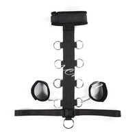 Wholesale female hand fetish resale online - Sex Slave Collar with Handcuffs Fetish Bondage Restraints Multi Positions Erotic Toys Ankle Hand Cuffs Sex Products Sex Toys