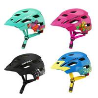 ingrosso le luci dei tappi di sicurezza-Ultralight Children's Bike Helmets Cartoon Skating Bambino Ciclismo Cappellino di sicurezza per bambini Caschi da bicicletta con fanale posteriore