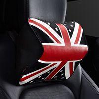 uk flaggenkissen großhandel-Gzhengtong Auto Kopfstützen Memory Cotton UK Flag Nackenkissen Autozubehör