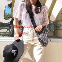 moda kimono negro al por mayor-Perspectiva de la moda Camiseta para mujer Camiseta de manga corta para mujer de manga corta para mujer Negro blanco 2 colores Streetwear Tide Tops