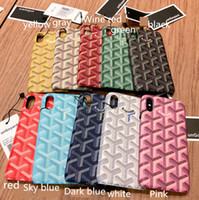 Wholesale phone accessories for case for sale – best Phone Cases Luxury Fashion GY Leather Hard Cases For iphone plus X XR Accessories Protective Case Color