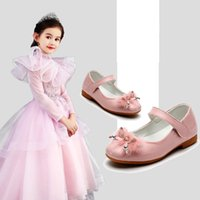 Wholesale girl leather shoe princess dress for sale - Group buy Kids Girls Leather Shoes Butterfly Bow Girls Buckle Strap Patent Leather Shoes Princess Peform Dance Shoes Party Casual Footwear T