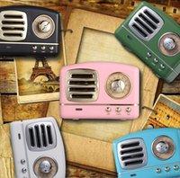 altavoz bluetooth lector usb al por mayor-vendimia Altavoz Bluetooth 6styles Mini estilo clásico de Bluetooth bajo rico radio estéreo Loud Sound System / Lectores USB SD decoración del coche FFA1029