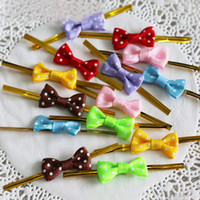 Wholesale cello bows resale online - 500 X Metallic Bow Twist Ties For Candy Lollipop Cello Gift Packaging Bag DIY Colorful Party Decoration