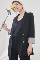Wholesale natural linen suit online - Cotton and linen suit jacket female new spring and summer thin section han edition loose small suit leisure korean style suit jacket