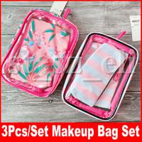 Wholesale pencil cases floral for sale - Group buy Makeup Bag PVC Women s Cosmetic Bags Potable set Lipstick Storage Cases Waterproof Zipper Pencil Bag Mini Makeup Bags
