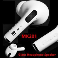 Wholesale MK201 Giant Portable wireless Bluetooth speaker big pea headset sound outdoor wireless Bluetooth speaker personal earphone creative speaker