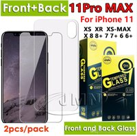 Wholesale 3d back pack online – custom Front and back tempered glass phone screen protector for iphone pro max xr xs x iphone Plus glass film in one pack