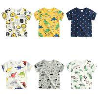 karikatur gedruckte t-shirts für mädchen großhandel-Einzelhandel Kinder Designer T-Shirts Jungen Mädchen Kurzarm Baumwolle Cartoon gedruckt T-Shirts Mode lässig Sport T-Shirt Tank Top Tees T-Shirts