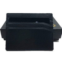 Wholesale coin case leather for sale - Group buy Real Leather ID Card Case Purse Classic Black Thin Credit Card Holder Wallet New Fashion Business Men Slim Coin Purse Pocket Bag