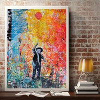 Wholesale graffiti art posters for sale - Group buy Graffiti abstract modern poster Street Art Banksy balloon girl wall art canvas painting for living room
