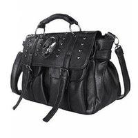 große schädeltaschen großhandel-ABDB-Schultertasche Lady Fashion Bag Designer Punk-Schädel-Niet All-Match-Damenhandtasche Black Big Tote