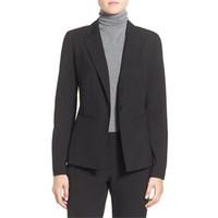 traje de smoking negro para damas al por mayor-Las nuevas mujeres negras se adaptan a los trajes de oficina formales y elegantes para mujer trajes de invierno para mujer traje formal para mujer esmoquin personalizada