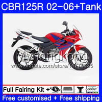 Wholesale purple fairings for honda cbr for sale - Group buy Body Tank For HONDA CBR R CBR125R HM CBR CC R R stock red hot CBR125RR Fairings