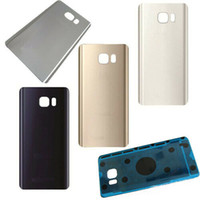 Wholesale 30pcs Rear Back Door Battery Glass Cover For Samsung Galaxy Note Adhesive with logo free DHL