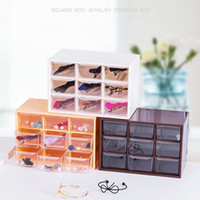 Creative Plastic Transparent Jewelry Storage Boxes And Multi-Function Home  Bedroom Desktop Debris Drawer Storage Consolidation
