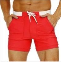 flache taschen großhandel-Mens-Schwimmen-Hosen-Art- und Weisetaschen-flacher Winkel-Erwachsen-Schwimmen-Normallack-Art- und Weiseknielange Kleidung plus Größen-entspanntes Kleid